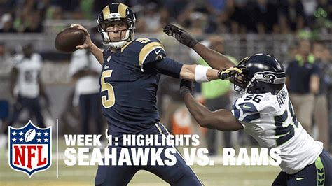 seahawks vs rams play by play seahawks vs rams week 1 highlights nfl best of