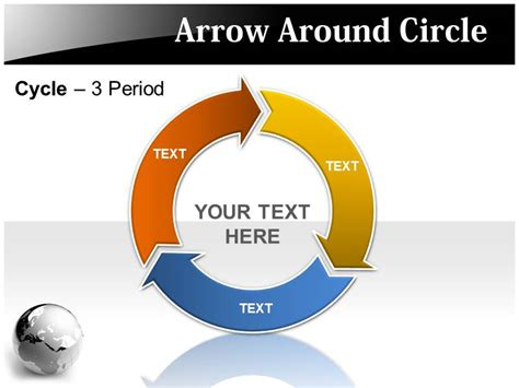 Arrow Circle Powerpoint Template Powerpoint Background Powerpoint Theme Circle Of Arrows Powerpoint