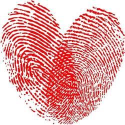 Shabby Chic Large Frame by Heart Fingerprint Free Vector In Adobe Illustrator Ai