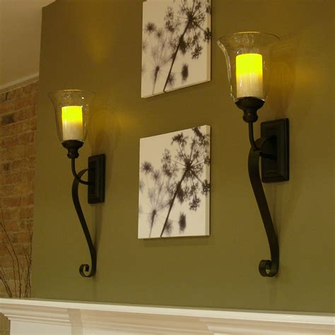 Flameless Candle Wall Sconce Set 2 Sconce Candlestick Set Of 2 Wall Sconces With Flameless Candles Oregonuforeview