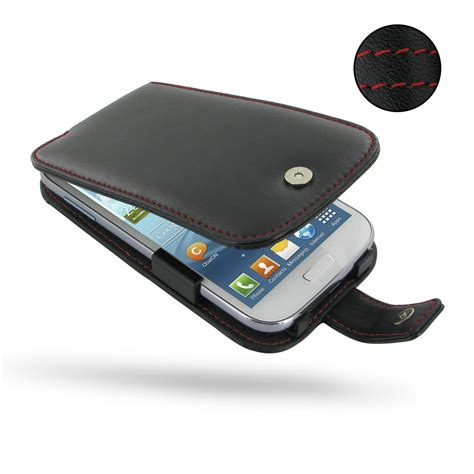 Leather Samsung Galaxy Grand Duos Flip Flipcase Cover Flipcover 1 samsung galaxy grand leather flip stitch pdair pouch