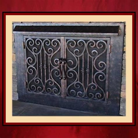 Iron Fireplace Doors by Wrought Iron Fireplace Screen Door Northshore