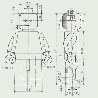 engineering drawing tree template lego minifigure technical drawing graphic arts juxtapost