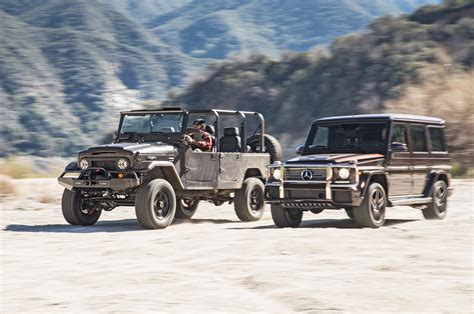 icon fj44 1973 icon fj44 vs 2016 mercedes amg g65 comparison