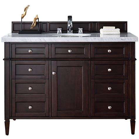 Martin Vanity by Martin Signature Vanities 48 In W Single Vanity In Burnished Mahogany With