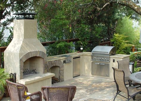 outdoor kitchen with fireplace customized 36 quot contractor outdoor fireplace kit integrated