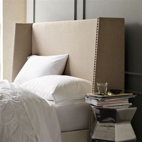 contemporary headboards wingback nailhead headboard modern headboards by