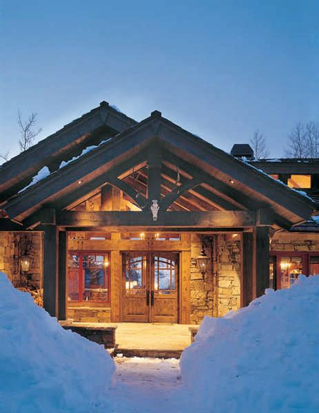 5 welcoming timber frame entrances