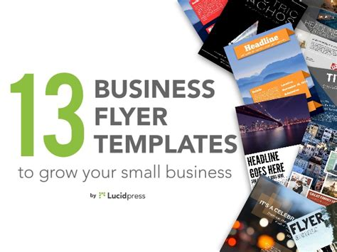 13 Best Business Flyers To Grow Your Small Business Best Templates For Small Business