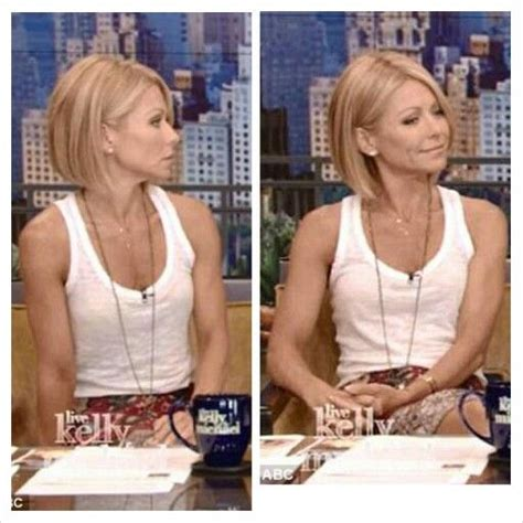 how does kelly ripa style her hair kelly ripa s new haircut thinking of going shorter