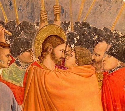 giotto judas kiss painting judas did not betray jesus arthur frederick ide s blog