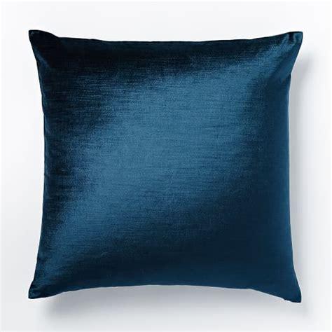 Pillow Covers by Cotton Luster Velvet Pillow Cover Regal Blue West Elm