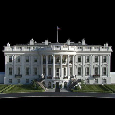 white house model white house 3d model max obj fbx cgtrader com