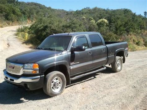 how does cars work 2004 gmc sierra 2500 transmission control purchase used 2004 gmc sierra 2500hd 4x4 duramax turbo diesel leather onstar crew cab in valley