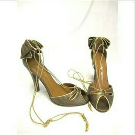 miss shoes 80 miss sixty shoes miss 60 s high heels w gold