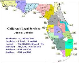 florida judicial circuits map map of judicial circuits florida department of children