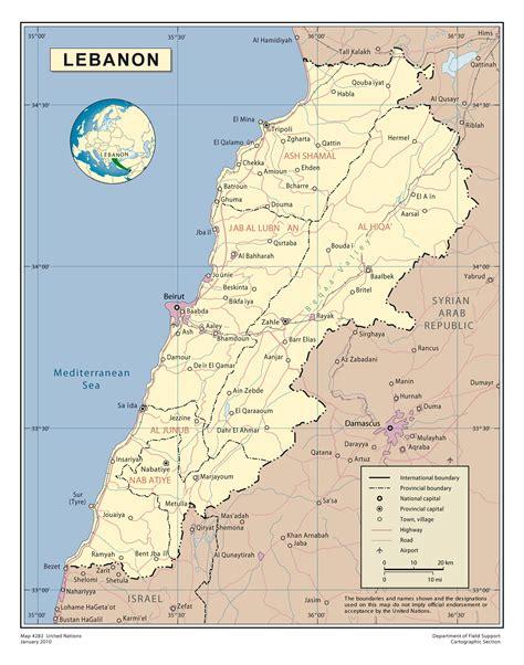 world map lebanon maps of lebanon detailed map of lebanon in