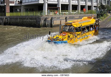 duck boat entering water duck boat stock photos duck boat stock images alamy