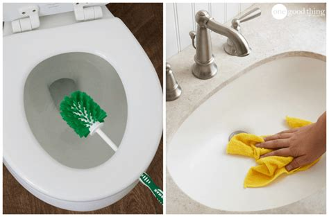 how to thoroughly clean your bathroom 5 easy steps that will get your bathroom clean in minutes