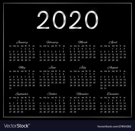 elegant calendar  black background vector image