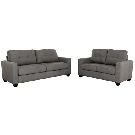 tufted sofa and loveseat modern tufted sofa and loveseat set grey s5092 2pc
