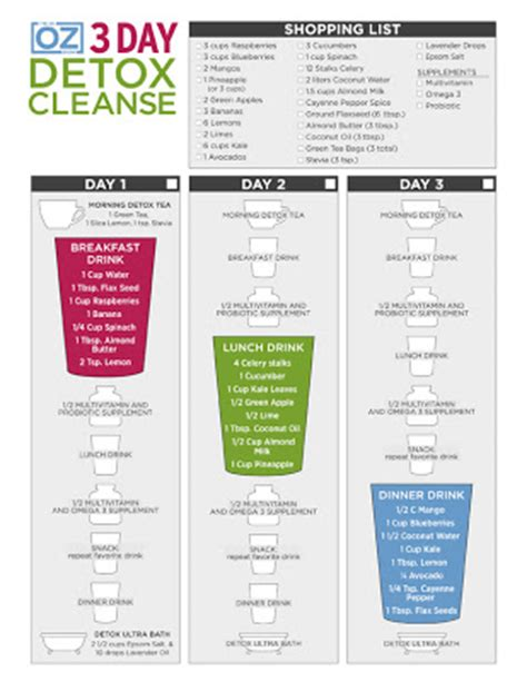 Dr Oz 3 Day Detox Ckeanse by Diary Of A Fit Dr Oz S 3 Day Cleanse Detox With