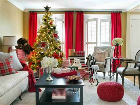 holiday decorating ideas for a little apartment como decorar una sala para navidad