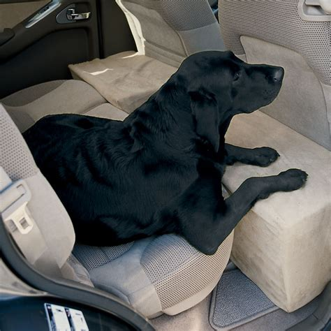 car seat extender for pets travel accessory solid foam microfiber backseat