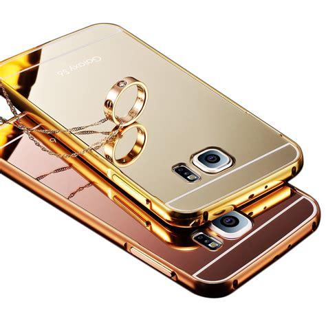 Mirror Infinix 2 X551 Aluminium Bumper Metal Back Cover for samsung galaxy s5 s6 i9600 for galaxy s6 edge luxury
