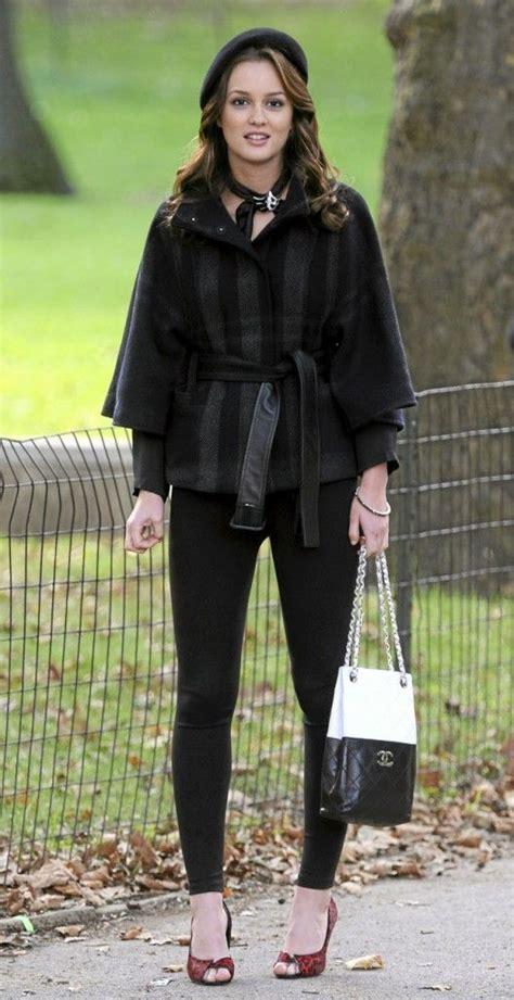 Gossipgirl Legging Pink bags preppy and black berets on