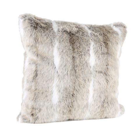 faux fur chair cushion malini faux fur with white stripe cushion iwoot