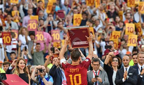Jersey Go As Roma Away Totti X Aeterno Legend 2017 francesco totti roma s emotional farewell speech in