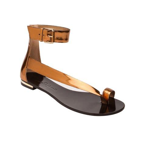 report signature sandals report signature toe loop sandal in gold bronze lyst