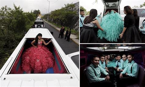 mexican teens celebrate  quinceaneras