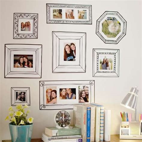 frame stickers for walls faux picture frame adornments gallery frame decals