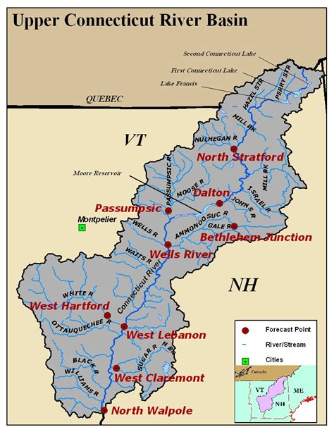 where is the water table located connecticut river basin photos