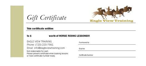 Horseback Riding Lesson Gift Certificate Template Templates Data Horseback Gift Certificate Template