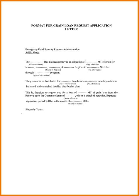 Letter For Loan Pdf personal loan application letter pdf cover letter
