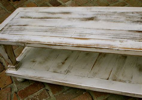wood coffee table wooden shabby handmade by honeystreasures