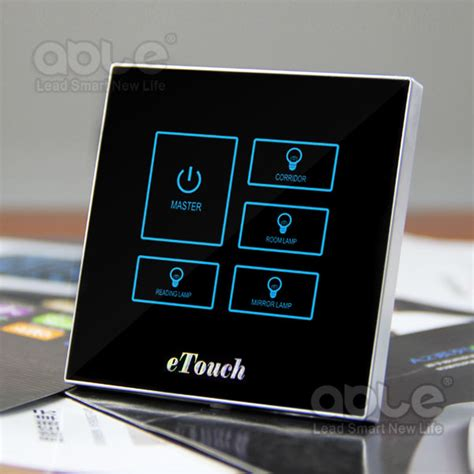 touch screen light switch glass touch screen light switch with black white