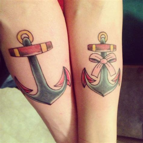 him and her tattoos his anchor tattoos my style tattoos