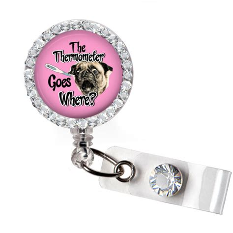 pug labor delivery pug badge reel