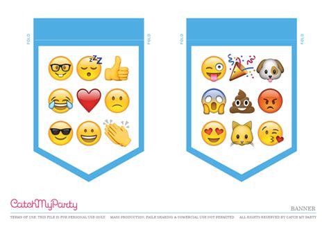printable emoji banner free emoji party printables catch my party