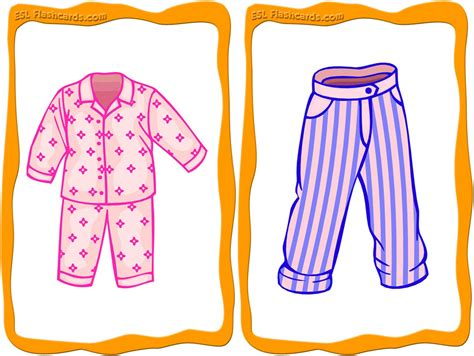 clothes flashcards 32 free printable flashcards