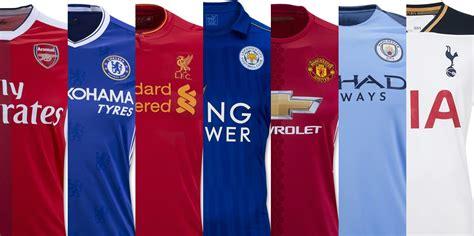 epl uniforms 2016 17 premier league home soccer jerseys soccer365