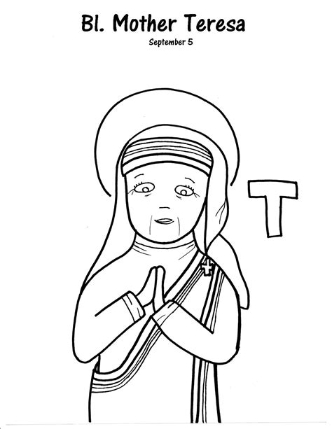 blessed mother coloring pages