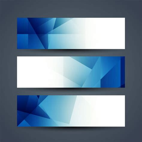 design banner vector cdr blue polygon banners vector free download