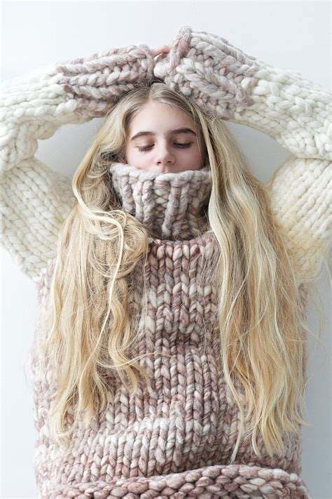 chunky knit chunky knit sweater by lebenslustiger lebenslustiger
