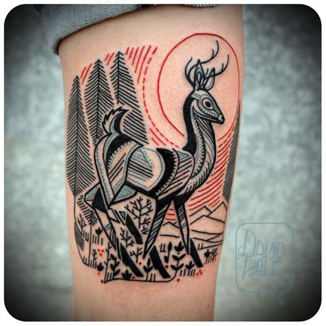 david hale tattoo david hale deer tatoos hawk