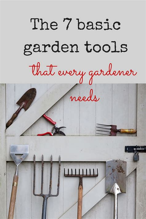 essential garden tools    gardening life